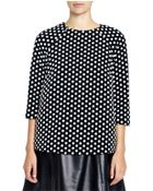 Lisa Perry Polka Dot Leather Tunic - Lyst