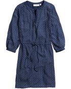 H&M Crinkled Dress - Lyst