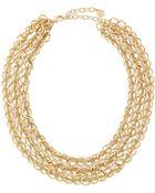 R.j. Graziano Golden Three-Row Chain Necklace - Lyst
