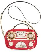 Betsey Johnson Tune In Radio Crossbody - Lyst