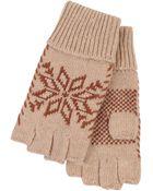 Metropark Snow Nordic Fingerless Gloves - Lyst