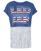 Topshop Led Zep Fringe Tee By And Finally - Lyst