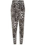 MICHAEL Michael Kors Leopard Print Harem Pants - Lyst