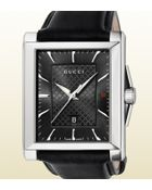 Gucci G-timeless Collection Medium Rectangle Watch - Lyst