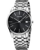 Calvin Klein Men'S Swiss Time Stainless Steel Bracelet Watch 40Mm K4N21141 - Lyst