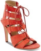 DV by Dolce Vita Open Toe Ghillie Lace Up Sandals - Tyler High Heel - Lyst