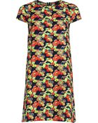 River Island Navy Floral Print Swing Dress - Lyst
