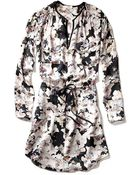 Rebecca Taylor Long Sleeve First Floral Shirt Dress - Lyst