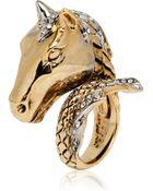 Roberto Cavalli Arion Ring with Swarovski Crystals - Lyst