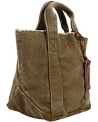 Polo Ralph Lauren Handbag Tote Small Washed Canvas - Lyst