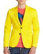 DSquared² Neon Stretch Cotton Blazer - Lyst