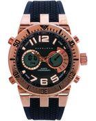 Sean John Men'S Analog-Digital Black Silicone Strap Watch 60X45Mm 10018066 - Lyst