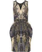 McQ by Alexander McQueen Snake-Print Faille Dress - Lyst