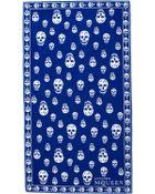 Alexander McQueen Skull-Print Cotton Beach Towel - Lyst