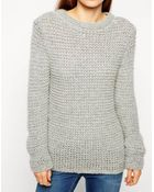 Asos Sweater In Chunky Mohair Stitch - Lyst