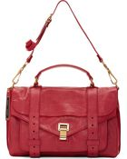 Proenza Schouler Raspberry Luxe Leather Medium Ps1 Satchel - Lyst