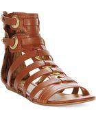 Report Signature Luckie Flat Gladiator Sandals - Lyst