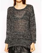 Asos Sweater in Slouchy Marl - Lyst