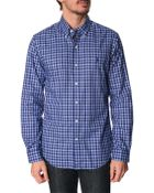 Polo Ralph Lauren Blue Checked Slim Fit Shirt - Lyst