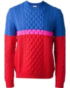 Kenzo Cable Knit Sweater - Lyst