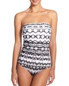 Badgley Mischka One-Piece Aliyah Bandeau Swimsuit - Lyst