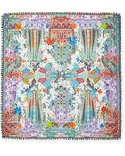 Etro Floral/Paisley Square Scarf - Lyst