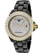 Swiss Legend Karamica Diamonds Black High-Tech Ceramic Gold-Tone Accents - Lyst