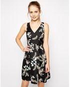 Oasis Trailing Flower Jacquard Skater Dress - Lyst