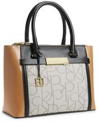 Calvin Klein Addie Double Zip Carryall - Lyst