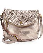 Elliott Lucca Small Metallic Leather Crossbody Bag - Lyst