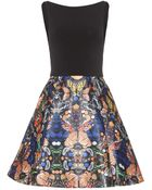 Alice + Olivia Amabel Printed Dress - Lyst
