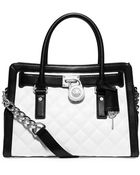 MICHAEL Michael Kors Hamilton Leather Quilted East West Satchel - Lyst