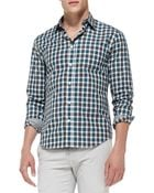 Vince Slim Check Woven Shirt - Lyst