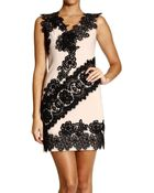 Moschino Cheap & Chic Dress Sleeveless Crepes Wool With Lace - Lyst