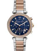 Michael Kors Mk6141 Parker Rose Gold-Tone Watch - For Women - Lyst