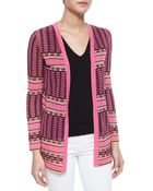 M Missoni Grid-Stitch Long Cardigan - Lyst