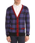 Marc By Marc Jacobs Aimee Plaid Blue Checked Cardigan - Lyst
