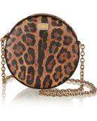 Dolce & Gabbana Glam Leopard-Print Faux Leather Shoulder Bag - Lyst