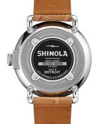 Shinola The Runwell Stainless Watch With Beige Leather Strap - Lyst