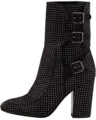 Laurence Dacade Womens Merli Triplebuckle Studded Midcalf Boot - Lyst