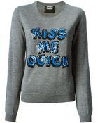 Markus Lupfer Sequinned Slogan Sweater - Lyst