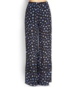 Forever 21 Floral Wide-Leg Pants - Lyst