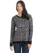 Kensie Animal Print Knit Sweater - Lyst