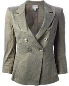 Armani Perforated Jacket - Lyst