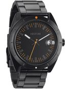 Nixon Orange All Black The Rover Ss Ii Watch - Lyst