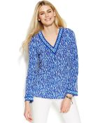 Michael Kors Michael Long-Sleeve Printed Tunic - Lyst