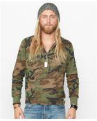 Denim & Supply Ralph Lauren Camo Slub-Cotton Henley Shirt - Lyst