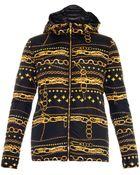 Versus  Chain-Print Hooded Jacket - Lyst
