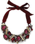 Kenneth Cole New York Beaded Adjustable Tie Statement Necklace - Lyst