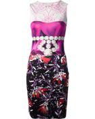 Mary Katrantzou Printed Sleeveless Dress - Lyst